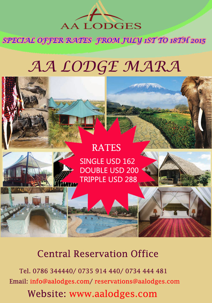 SPECIAL OFFER RATES FOR AA LODGES